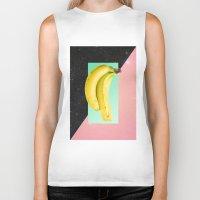 eat Biker Tanks featuring Eat Banana by Danny Ivan