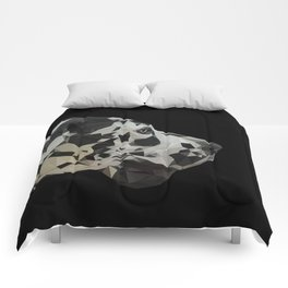 Great Dane Dogue low poly. Comforters