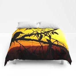 Kookaburra Silhouette Solstice Sunset Comforters