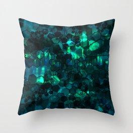 Fever Pitch - Aqua Variant Throw Pillow