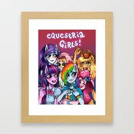 Equestria Girls Framed Art Print