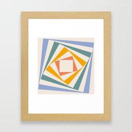 Spinning Squares Palette III Framed Art Print