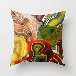 Slivers of the Past, Earth's core Throw Pillow