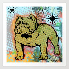 Cool dog pop art Art Print