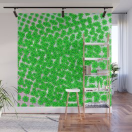 Abstract four leaf clover pattern on texture Wall Mural
