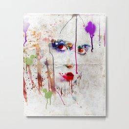 Drip face Metal Print