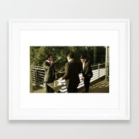 suits Framed Art Prints featuring Thats suits  by StreetsOnFilm