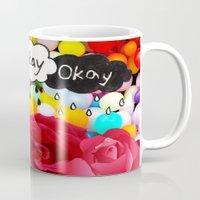 okay Mugs featuring okay... by Aldo Couture