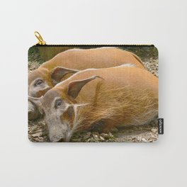 Red River Hogs taking a nap Carry-All Pouch