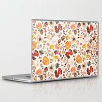 mushrooms Laptop & iPad Skins featuring Mushrooms by juli puli