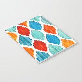 Bright colors tribal ikat pattern Notebook