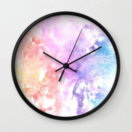 Rainbow Watercolor Splatter Wall Clock