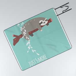Sloth card - just 5 more minutes Picnic Blanket