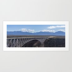 Rio Grande Gorge Bridge Pano Art Print