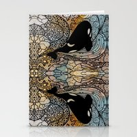 killer whale Stationery Cards featuring Killer Whale by Nemki