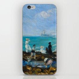 Beach at Dieppe,William James Glackens, 1906 iPhone Skin