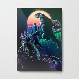 Godzilla and kong  Metal Print