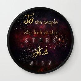 Look at the stars and wish Wall Clock