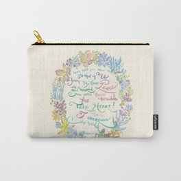Take Heart - John 16:33 Carry-All Pouch