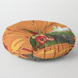 Tropical Swan Floor Pillow