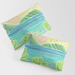 Naupakas in Paradise Surf Art by Lauren Tannehill Pillow Sham