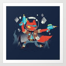 Bounty Hunter Space Cat Killa Art Print