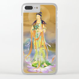 Vaidurya  Kuan Yin Clear iPhone Case