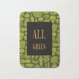 Talkers #1 All Green Bath Mat