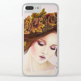 Autumn Goddess Clear iPhone Case