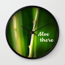 Aloe There Wall Clock