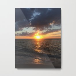 Sunset Yolo Beach Metal Print