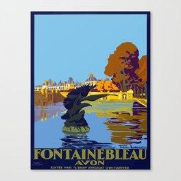 Vintage poster - Fontainebleau Canvas Print
