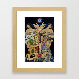 Mexican Theophany Teofania Mexicana by Juan Manuel Rocha Kinkin Framed Art Print