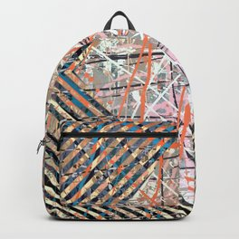Flight of Color - diamond blue graphic Backpack