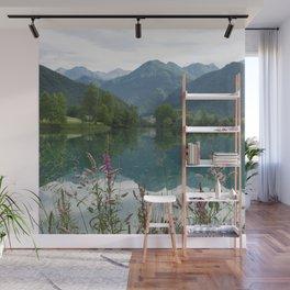 Mountain reflection  on lake Wall Mural