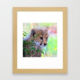 Aqua_Cheetah_20180102_by_JAMColorsSpecial Framed Art Print