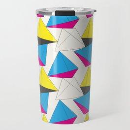 CMYK Tetrahedron Travel Mug
