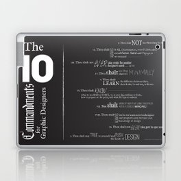 The 10 Commandments for Graphic Designers Laptop & iPad Skin