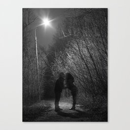 Two Ghosts Dating Canvas Print