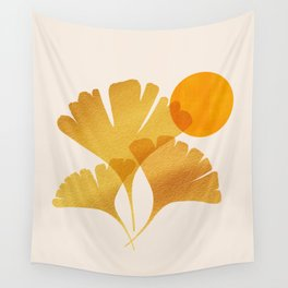 Abstraction_SUN_Ginkgo_Minimalism_001 Wall Tapestry