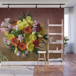 Bouquet Flowers Wall Mural