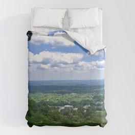 Scenic overlook of Hot Springs Arkansas Comforters