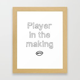 Player in the making Framed Art Print