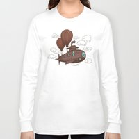 voyage Long Sleeve T-shirts featuring The Fantastic Voyage by Terry Fan