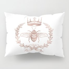 Queen Bee in Rose Gold Pink Pillow Sham