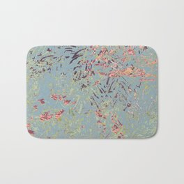 Sage Pine leaves Abstract Pattern Bath Mat