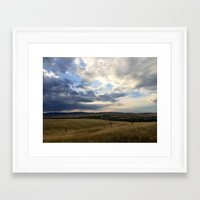 montana Framed Art Prints featuring Montana by Ruby Love