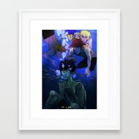 iwatobi Framed Art Prints featuring FREE! IWATOBI SWIM CLUB by Frank Odlaws
