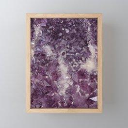 Deep Purple Quartz Crystal Framed Mini Art Print