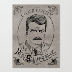 Constantly Ron Swansoning Canvas Print